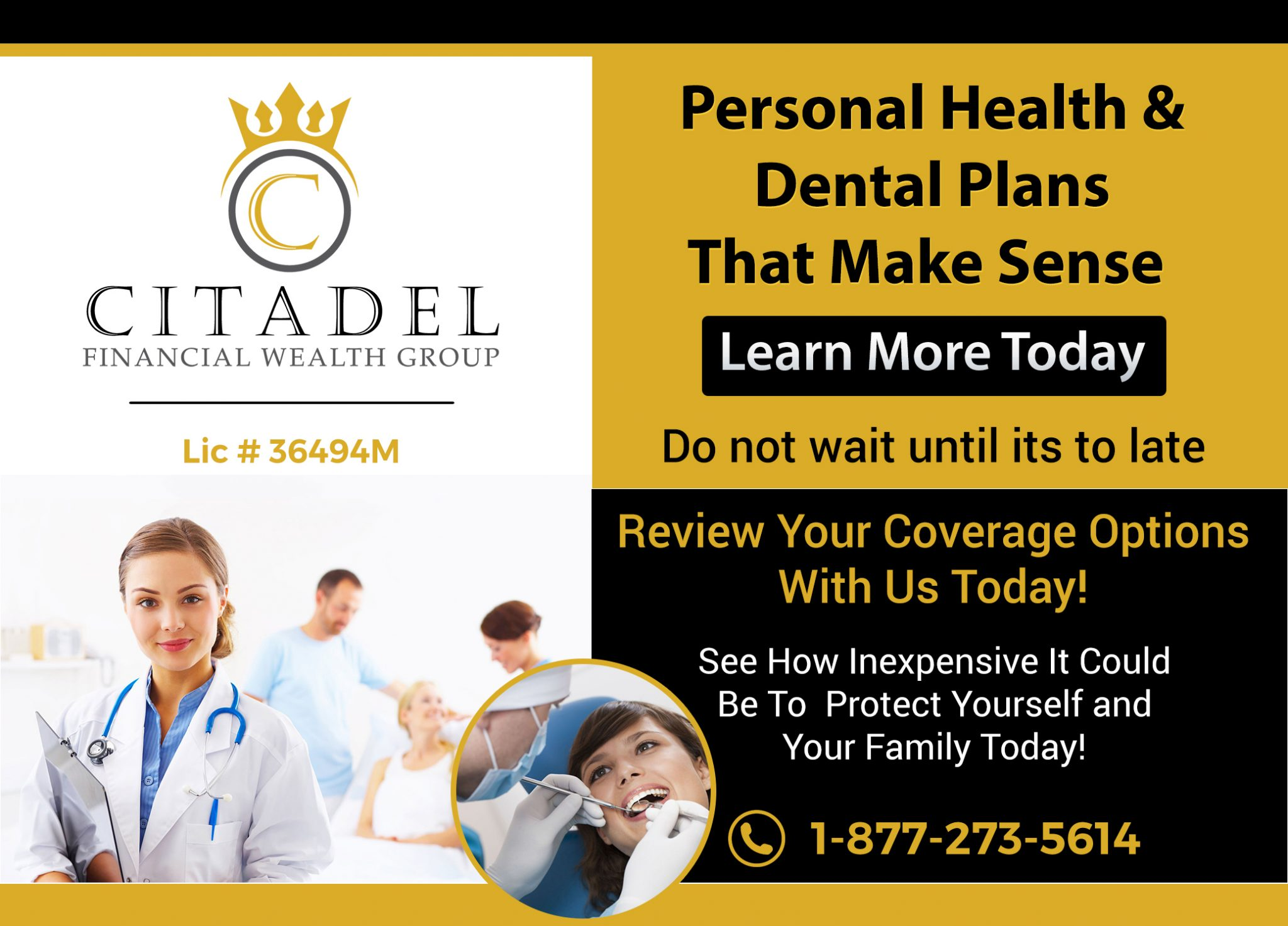 Citadel Financial Wealth Group -life insurance-life insurance for children - Critical Illness Insurance- Disability Insurance - Group Insurance Plans - Group Insurance - SME - Guaranteed Issue Life Insurance - No Medcial Life Insurance - Non Medical Life Insurance - Life Annuity - Life Insurance - Whole Life Insurance - Term Life Insurance -Mortgage Insurance - Mortgage life insurance - Life Insurance For Business Owners - Overhead expense Insurance - Long Term Care Insurance - Personal Banking - Open Bank Account - Personal Health Insurance - health Insurance - Travel Insurance -Health & dental insurance- health and dental insurance - RESP - Segregated Funds - Senior Life Insurance - Final Expenses - Final Expense Insurance - Final Expenses Insurance - Universal Life Insurance - Visitor To Canada Super Visa Insurance - 9